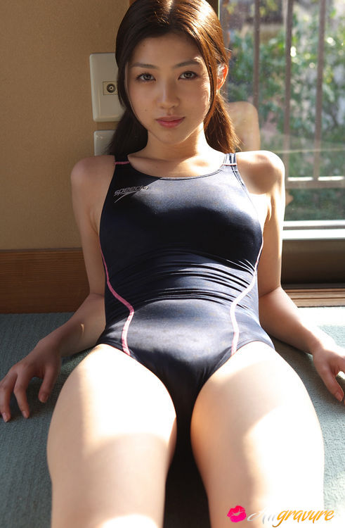 Girl swimsuit asian tight