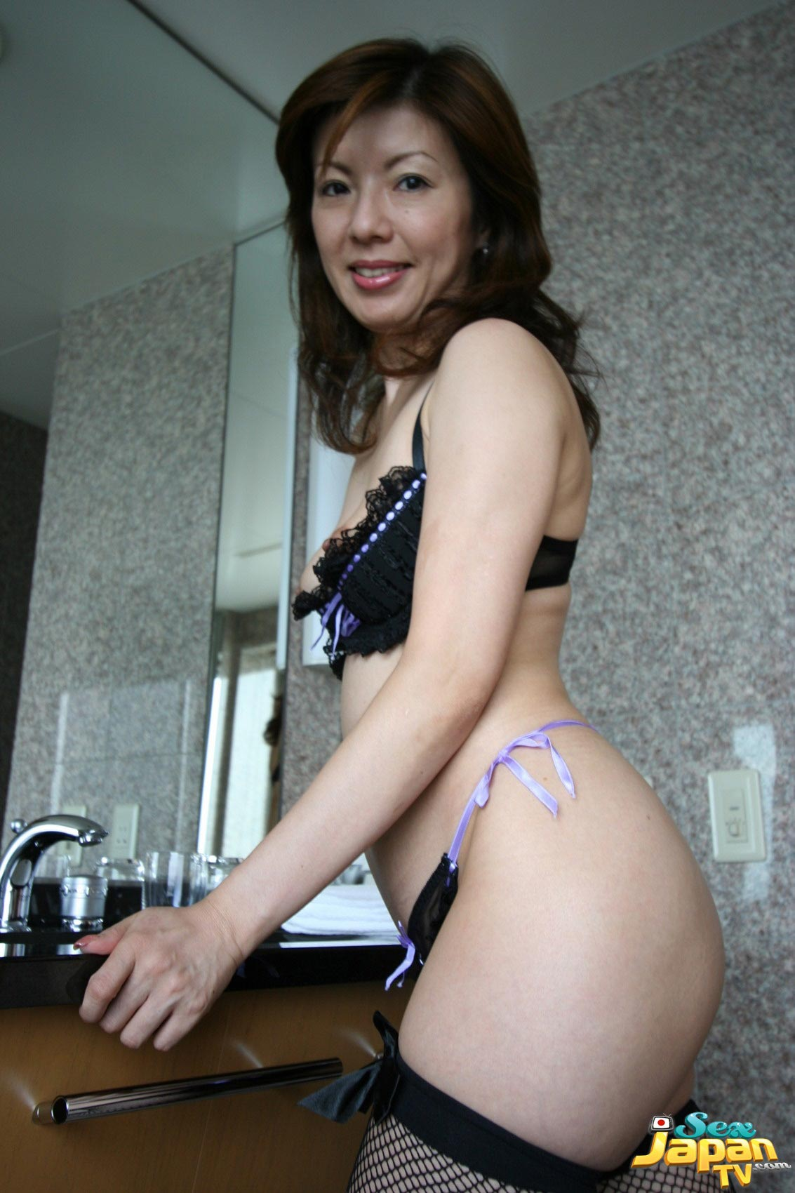 ... , panties and stockings, Miyuki Kobayashi is a sexy little Asian babe: japanfuckpics.com/410-in-her-black-bra-panties-and-stockings-miyuki...