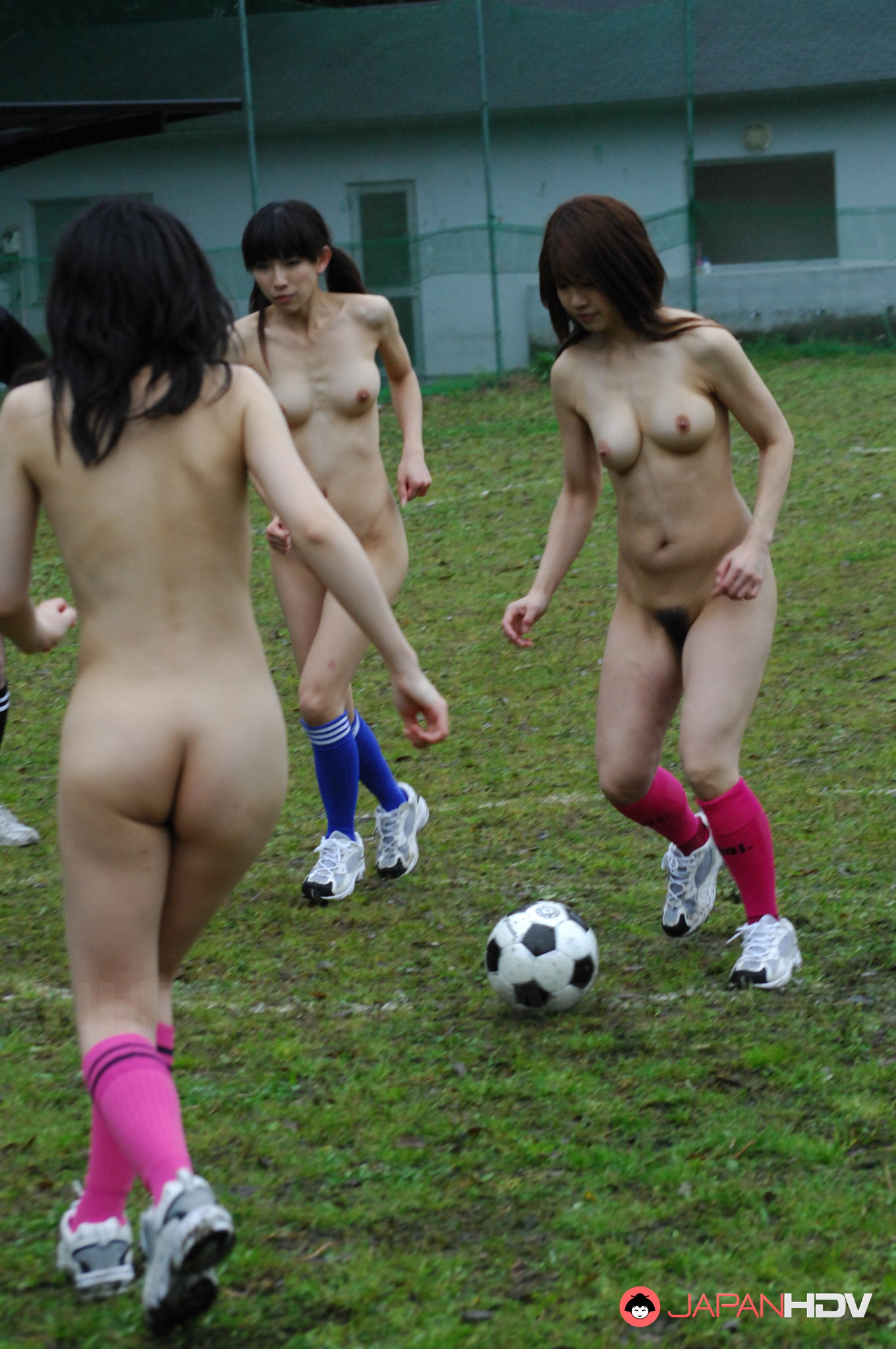 Girl playing naked football sorry, that